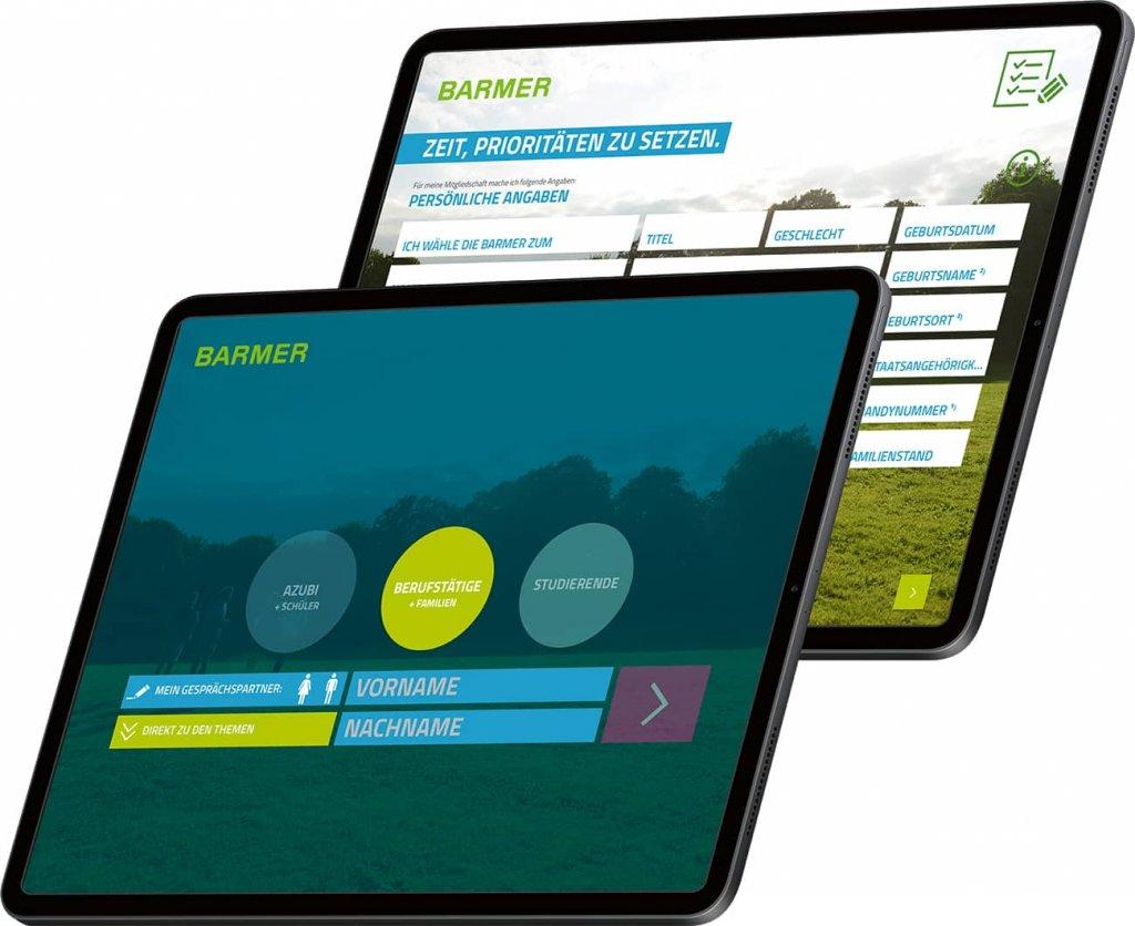 Screenshot Barmer-App, Persönliche Daten