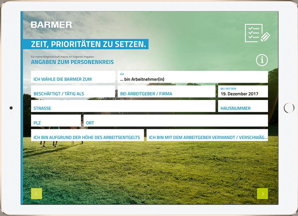 Screenshot zu BARMER