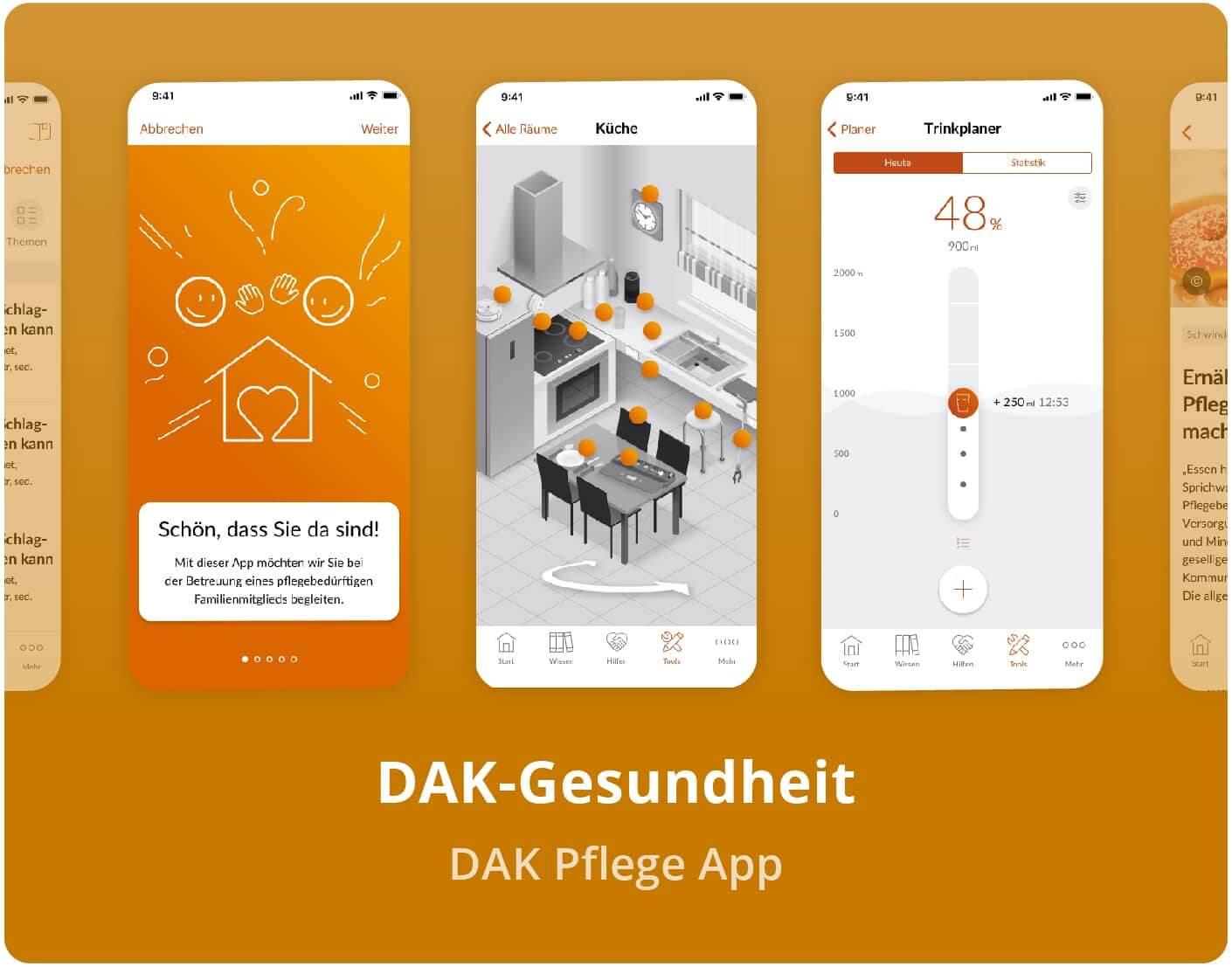 DAK Gesundheit Pflege-App