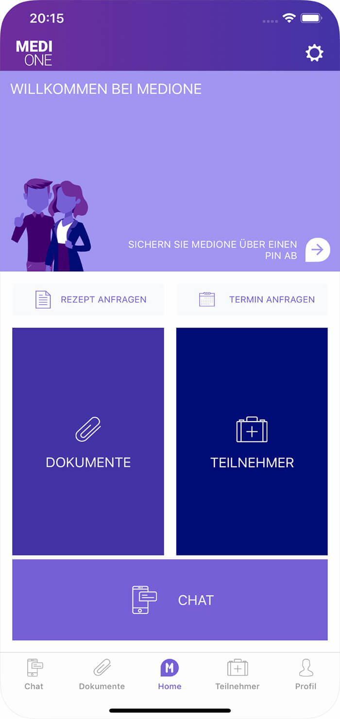 MediOne App Home