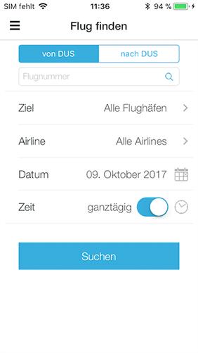 Screenshot zu DUS App