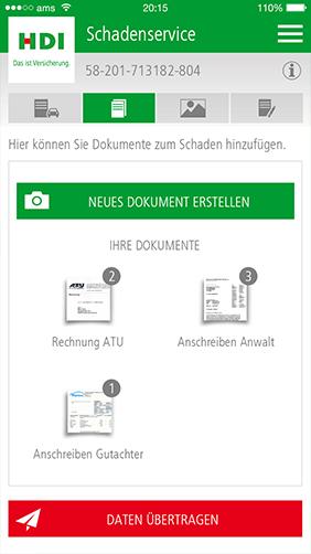 Screenshot zu HDI hilft App