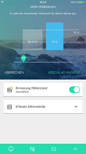 Screenshot zu ENPURE App