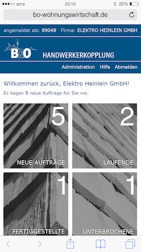 Screenshot zu B&O App