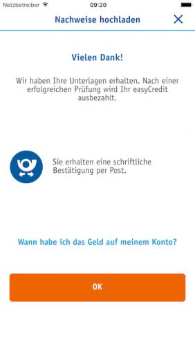 Screenshot zu easyCredit