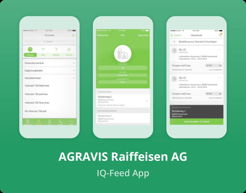 """Vorschaubild der AGRAVIS Raiffeisen AG """"IQ-Feed"""" App"""