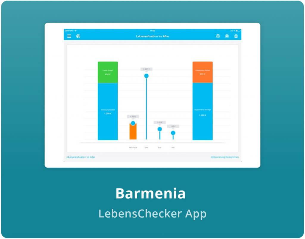"""Vorschaubild der Barmenia """"Lebenschecker"""" App"""