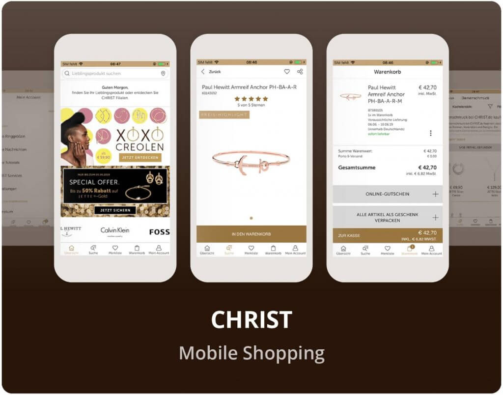 "Vorschaubild der CHRIST ""Mobile Shopping"" App"