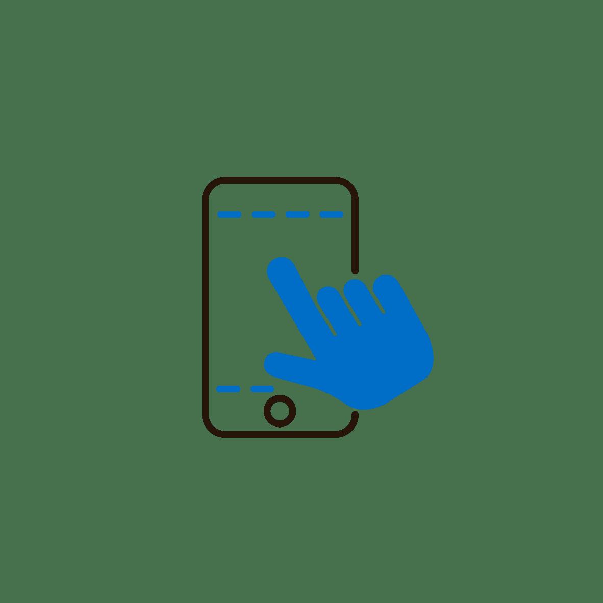 Icon nutzerfreundliche Bedienung