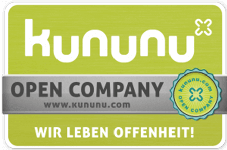 Logo kununu, Open Company, Wir leben Offenheit! Externer Link