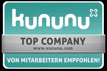 Logo kununu, Top Company, von Mitarbeitern empfohlen – externer Link