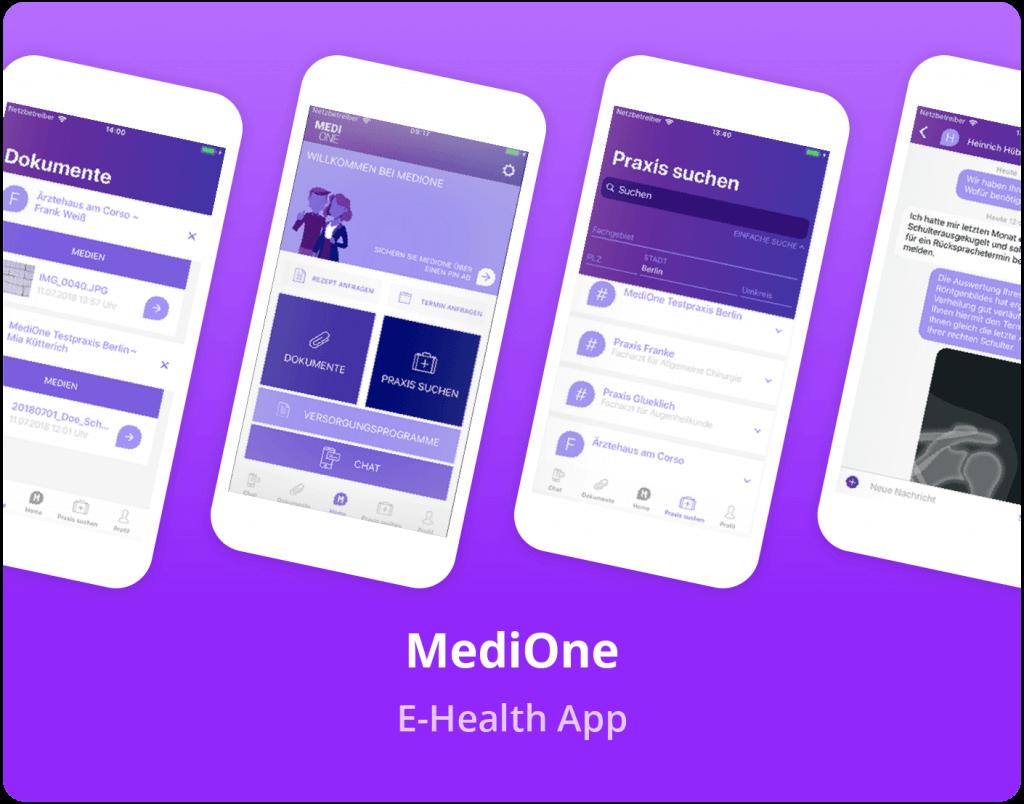 """Vorschaubild der MediOne """"E-Health"""" App"""