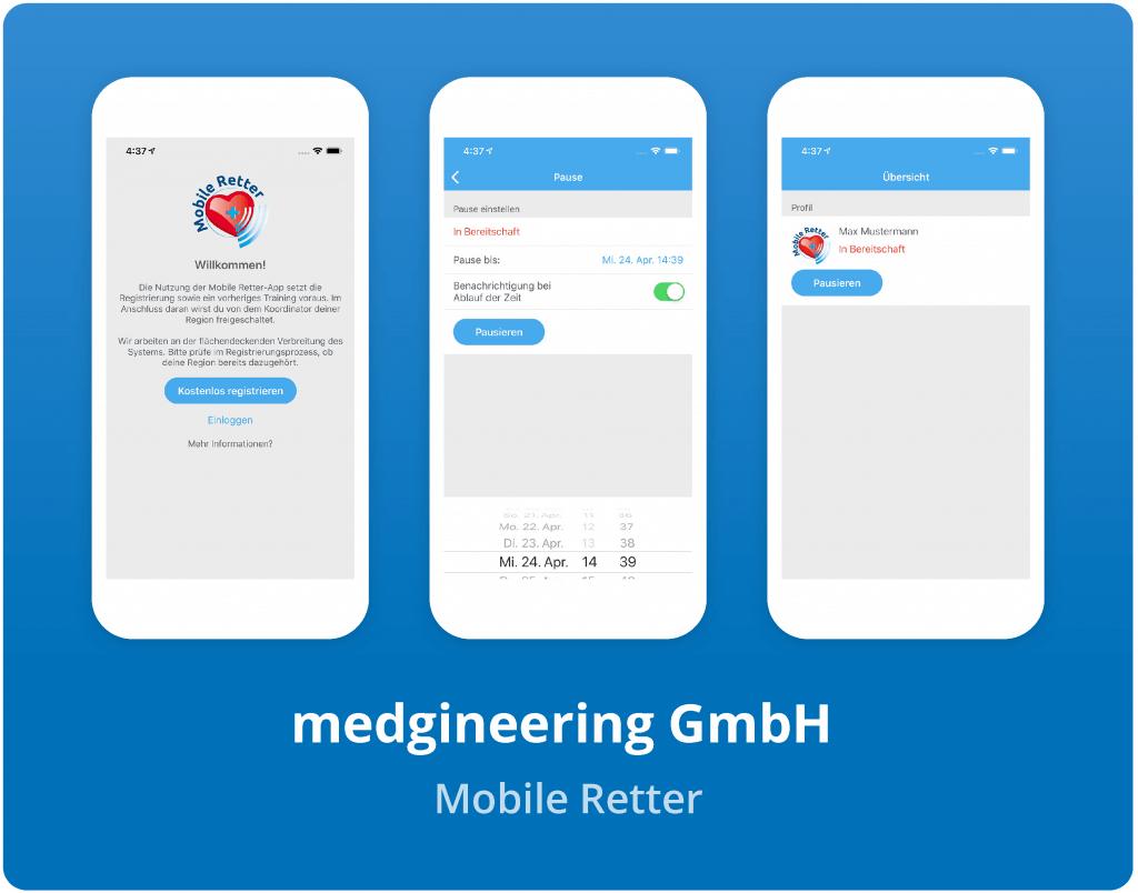 """Vorschaubild der medgineering GmbH """"Mobile Retter"""" App"""
