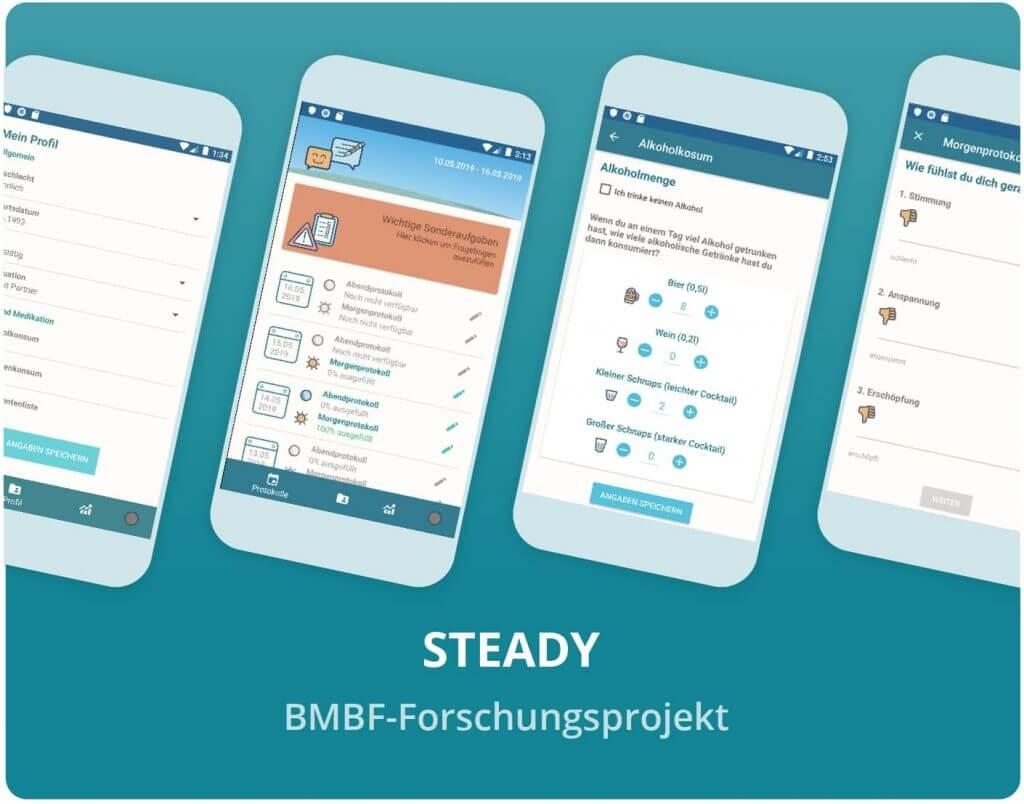 "Vorschaubild der BMBF ""STEADY-Forschungsprojekt"" App"