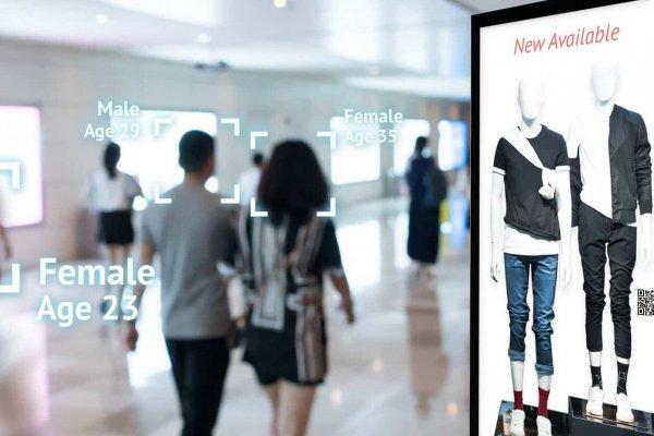 Digital Signage in einer Einkaufspassage