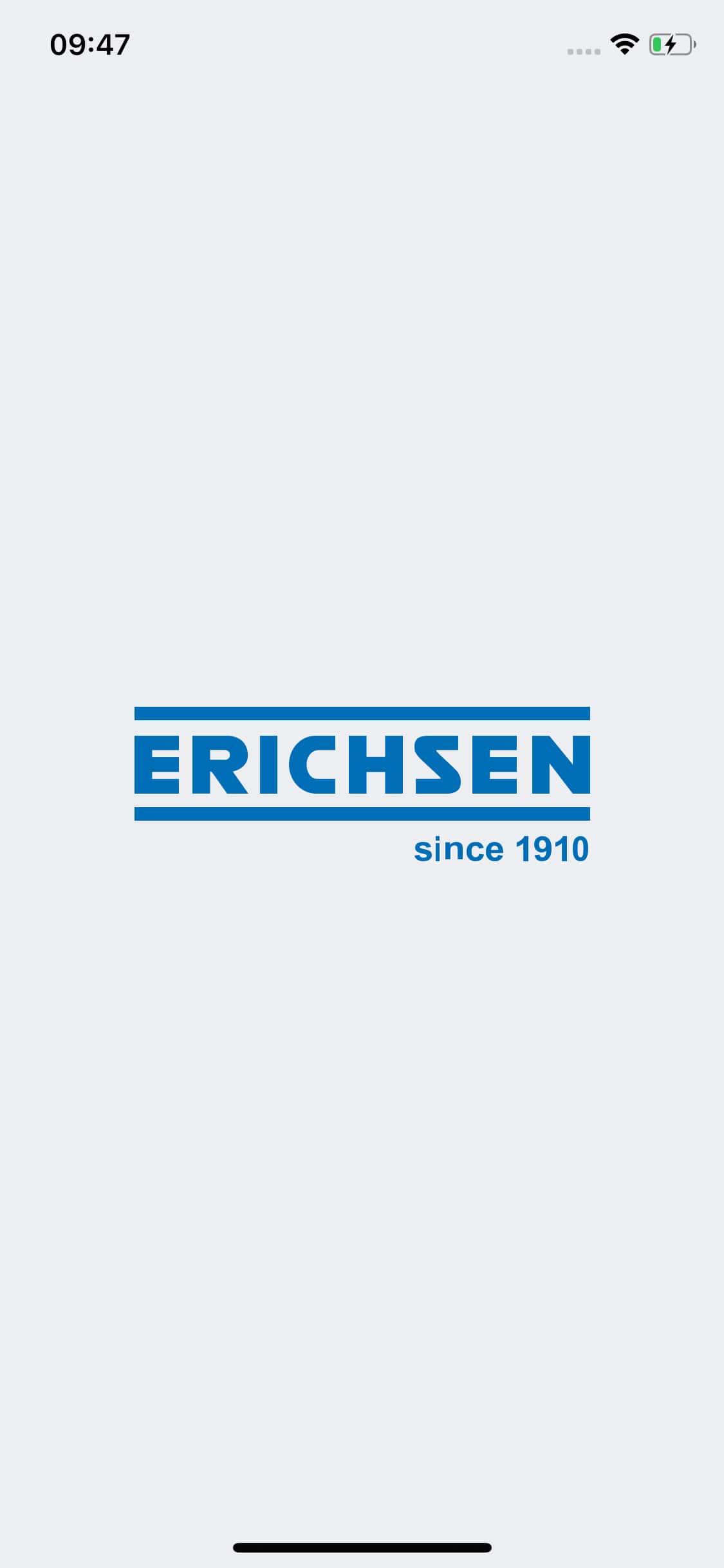 Screenshot ERICHSEN – Ritzhärteprüfgeraet-App, Startbildschirm
