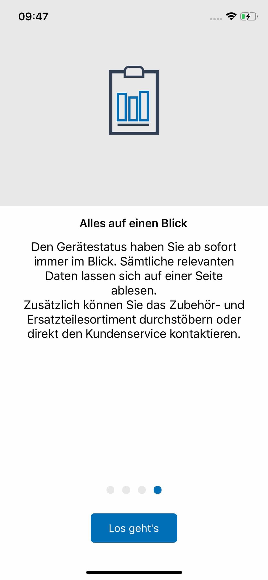 Screenshot ERICHSEN – Ritzhärteprüfgeraet-App, alles auf einen Blick